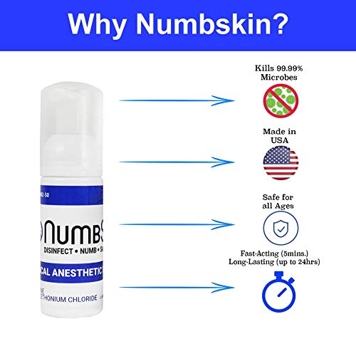 Numbing Foam Soap 4% Lidocaine Topical Anesthetic - Tattoo Numbing Spray