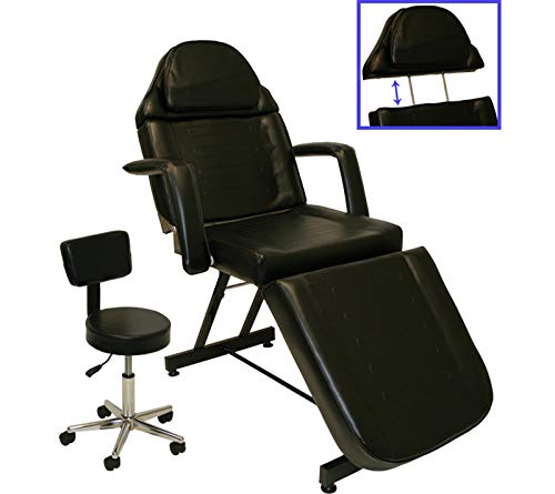 InkBed Black Stationary Adjustable Tattoo Chair
