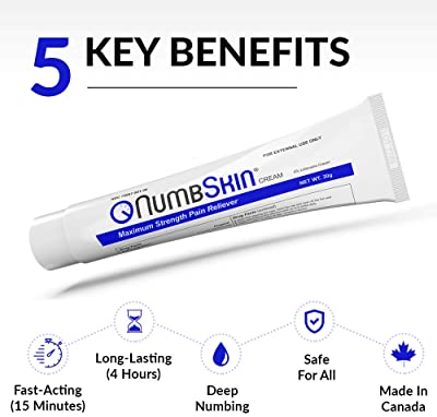 Numbskin Cream 5% Lidocaine Anesthetic Tattoo Numbing Cream