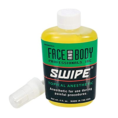 Face and Body Swipe Topical Anesthetic for Painful Tattoo Procedures