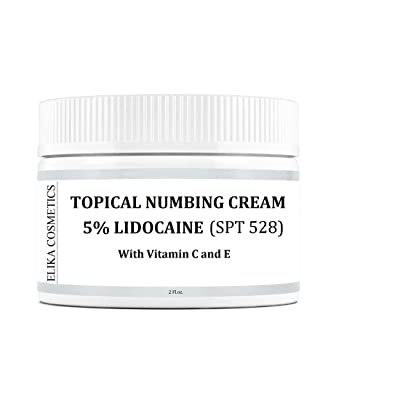 ELIKA COSMETICS Topical Numbing 5% Lidocaine Cream