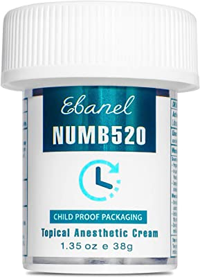 Ebanel Laboratories 5% Lidocaine Topical Numbing Cream with Maximum Strength