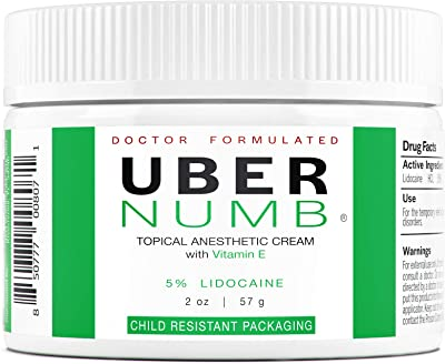 Uber Scientific 5% Lidocaine Topical Skin Numbing Cream