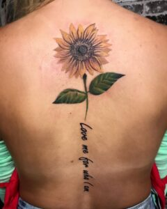 awesome-spine-sunflower-tattoo-by-Louie-Seventh-Seal-Tattoo