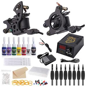 Hawink Tattoo Kit for Beginners with 7-Ink Set